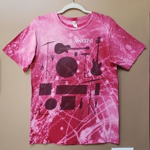 Maroon 5 bleached graphic band tee